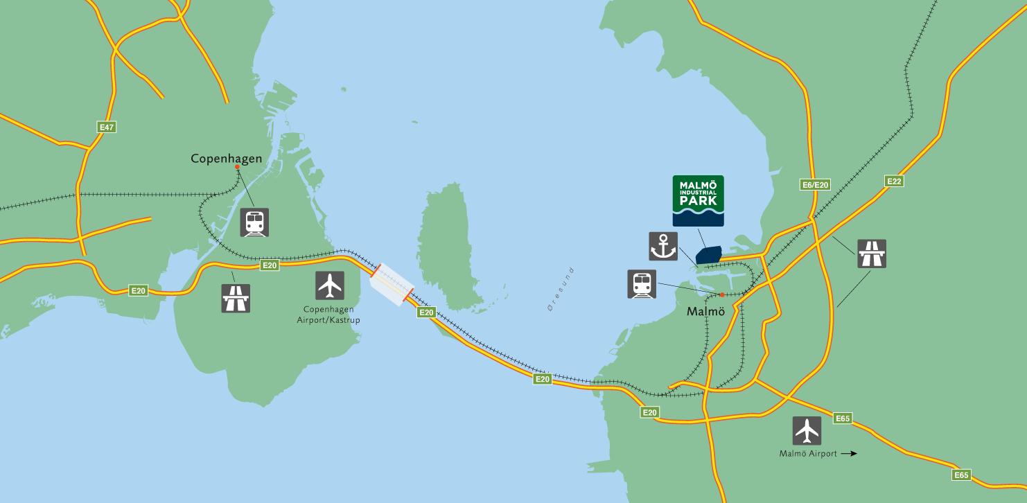 Map over Öresund