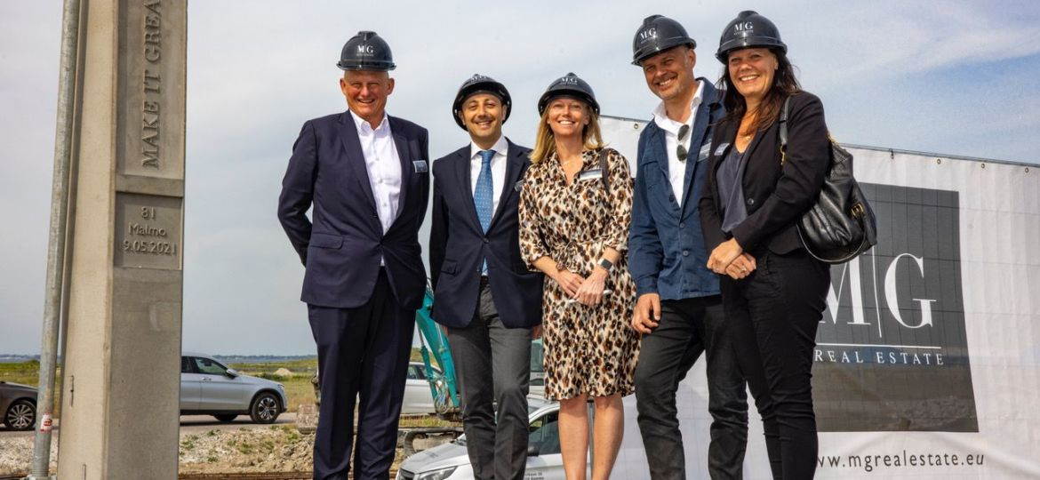 Construction is underway on MG Park Malmö's newest warehouse
